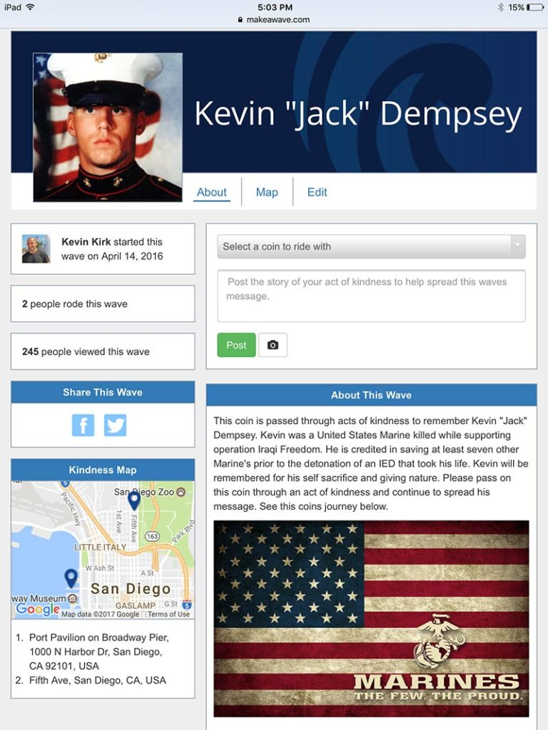 "Kevin ""Jack"" Dempsey Memorial Make a Wave Page"